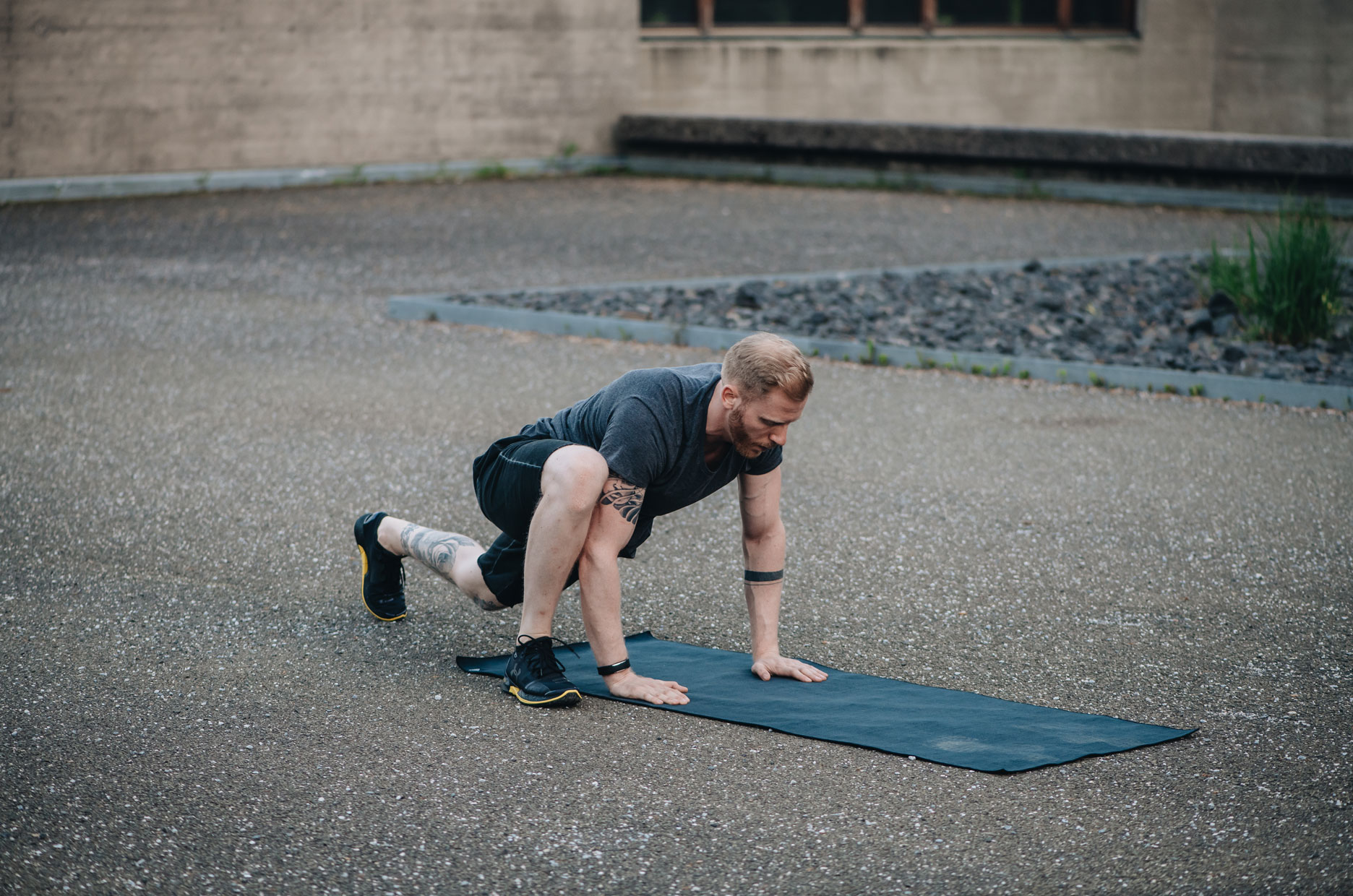 Functional Fitness Übung Hill Climber